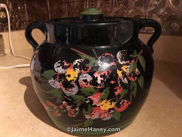 original McCoy pottery black cookie jar