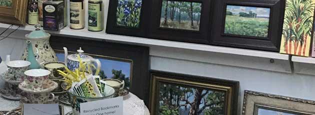 Visiting Linda Blondheim, artist in Florida