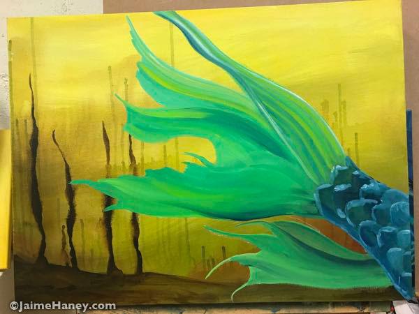 Adding the mermaid tail