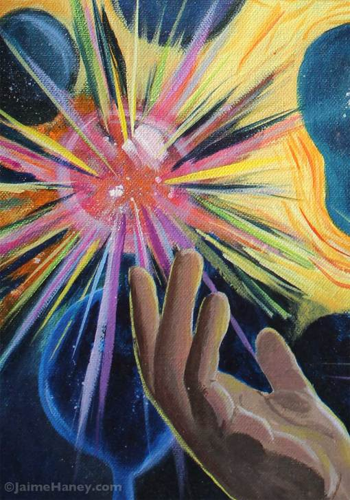close up of Throwing Magic