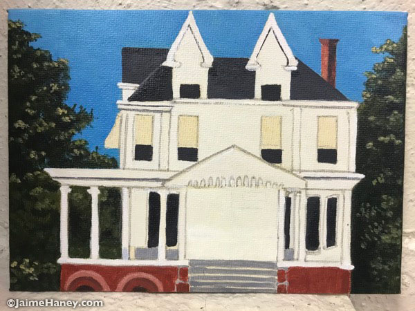 almost finished painted historic house