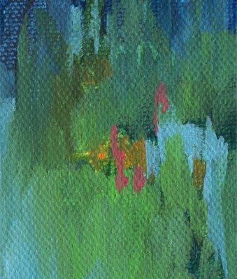 Night Garden abstract painting