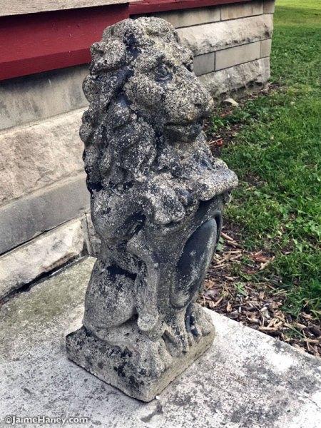 cement guardian lion