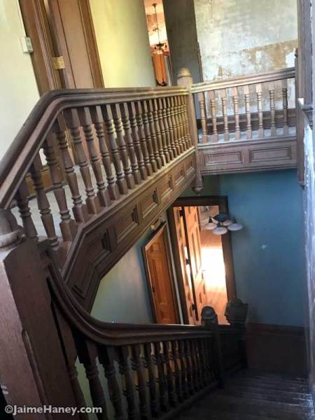 ornate wooden staircase