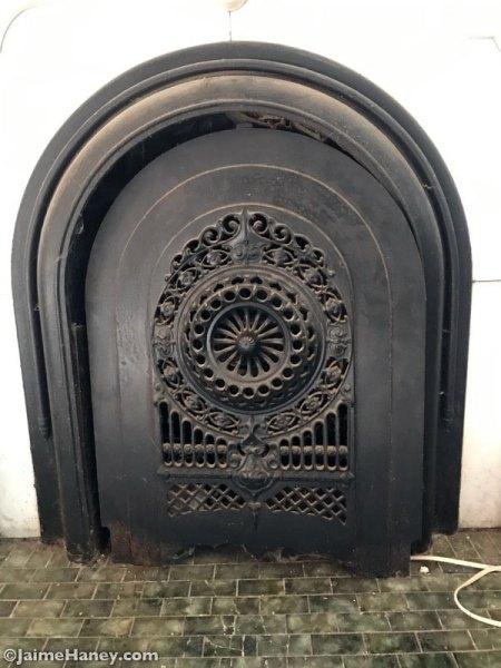 Ornate summer iron firebox