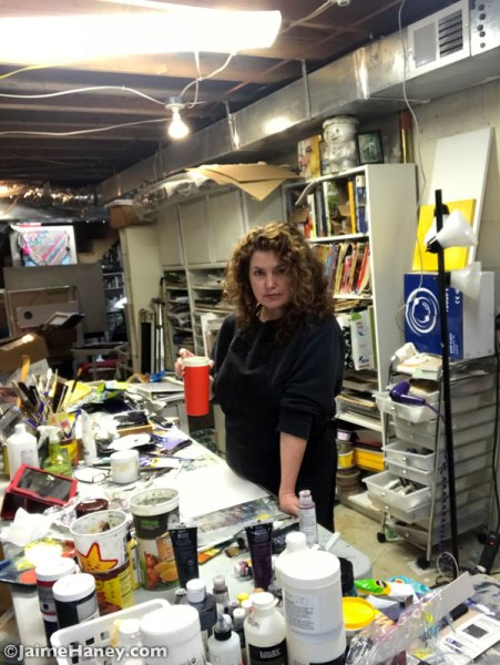 Jaime Haney in her art studio