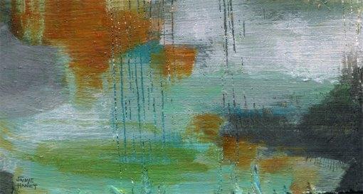 tiny abstract art block