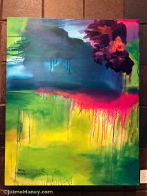 Large loosely painted floral abstract original painting