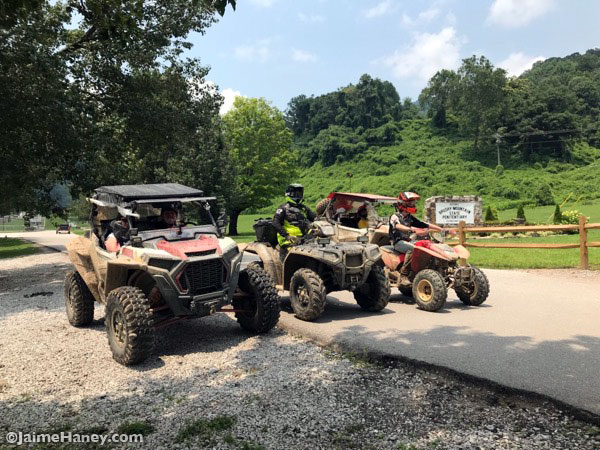 atv's lined up at Brushy Mountain