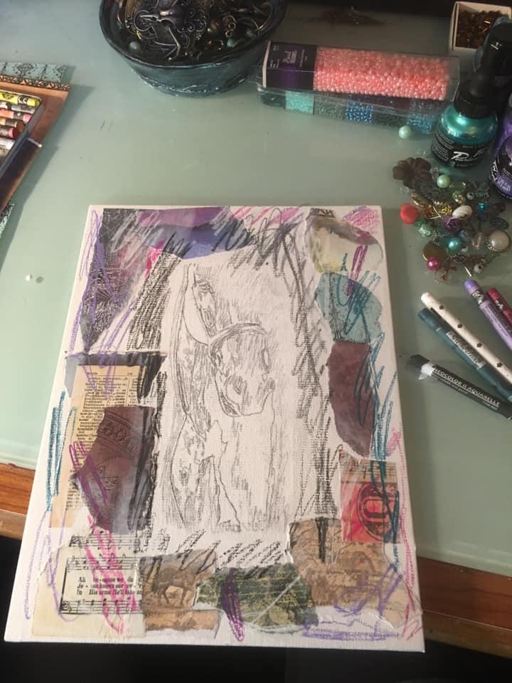 scribble caran d'ache watercolor crayons