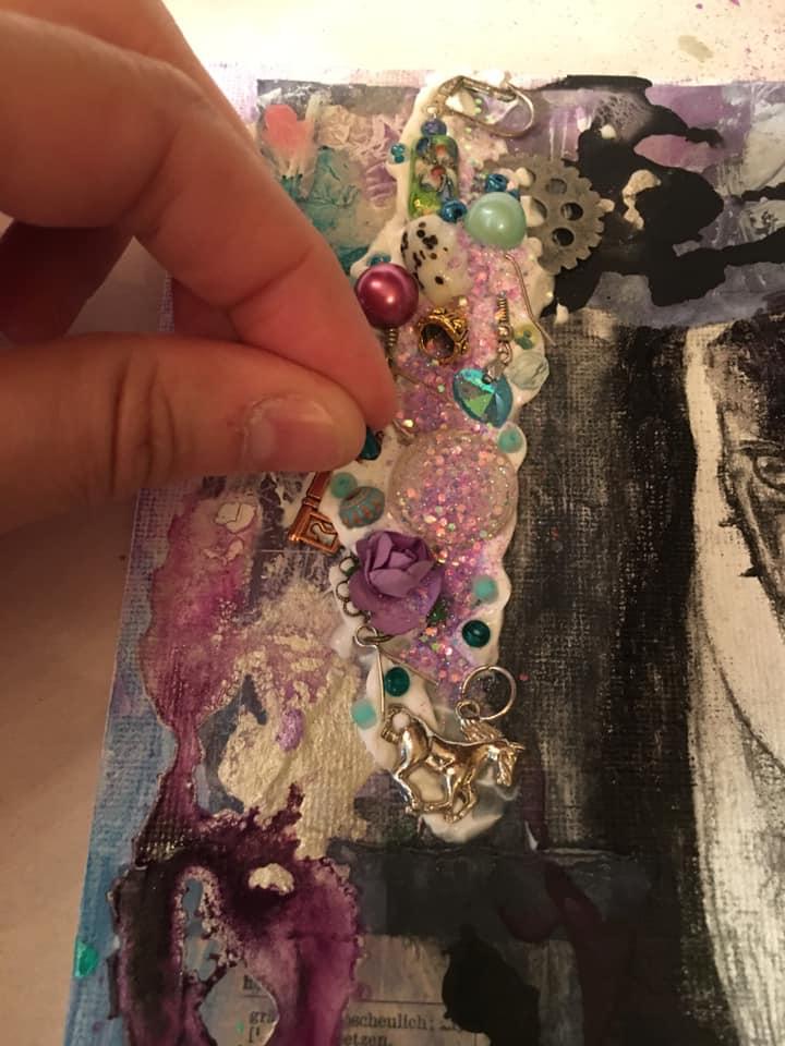 placing beads in gel
