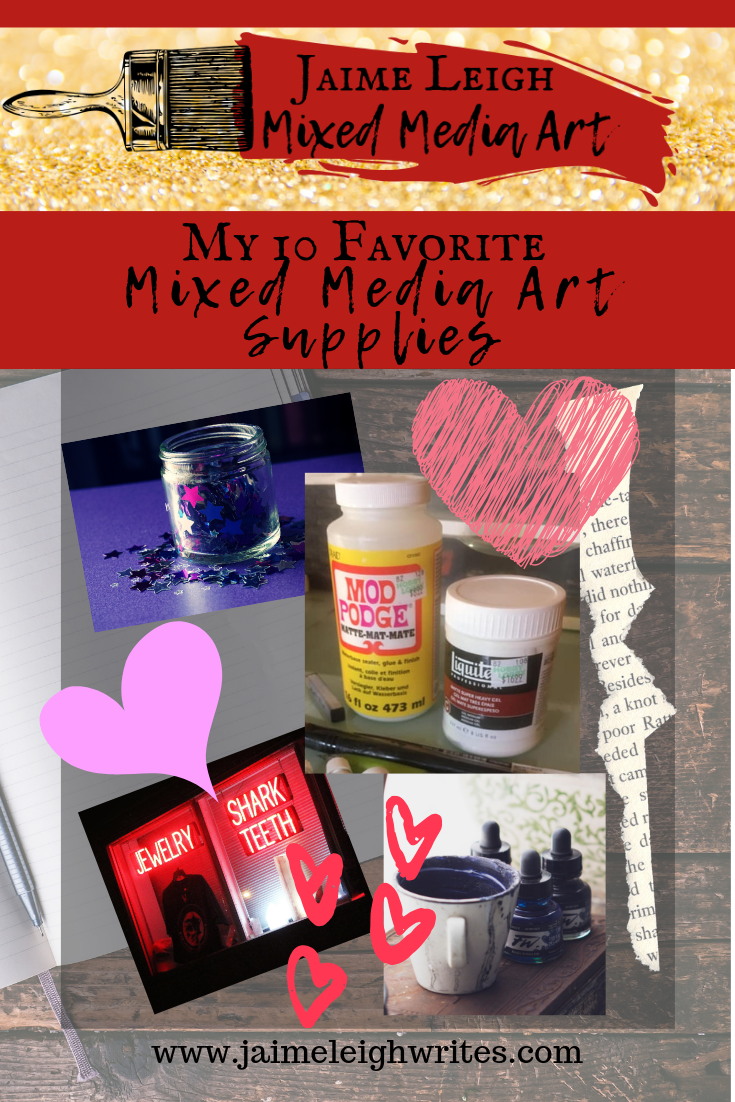favorite mixed media art supplies graphic