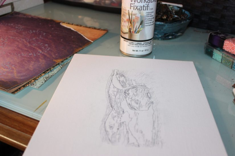 workable fixative and drawing