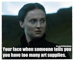 art supply meme
