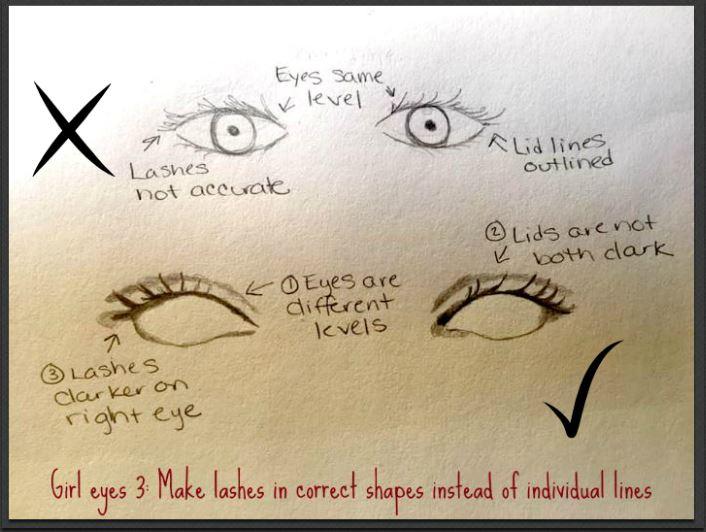 drawing eyelashes