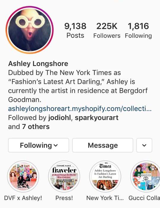 instagram artist ashley longshore
