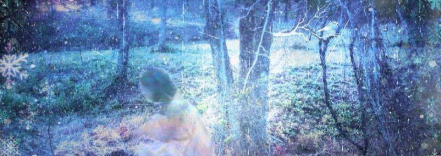 ghostly child in forest