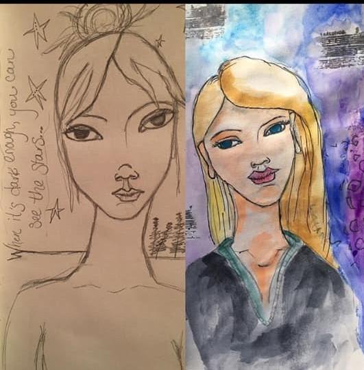 sketchbook faces