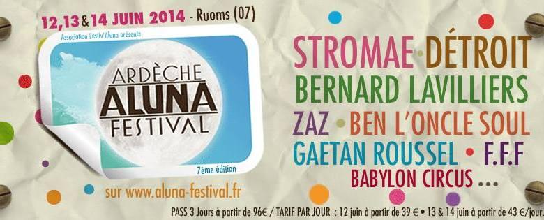 Aluna Ardeche Festival version 2014