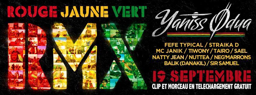 Le reggae français réunis avec YANISS ODUA - ROUGE JAUNE VERT REMIX