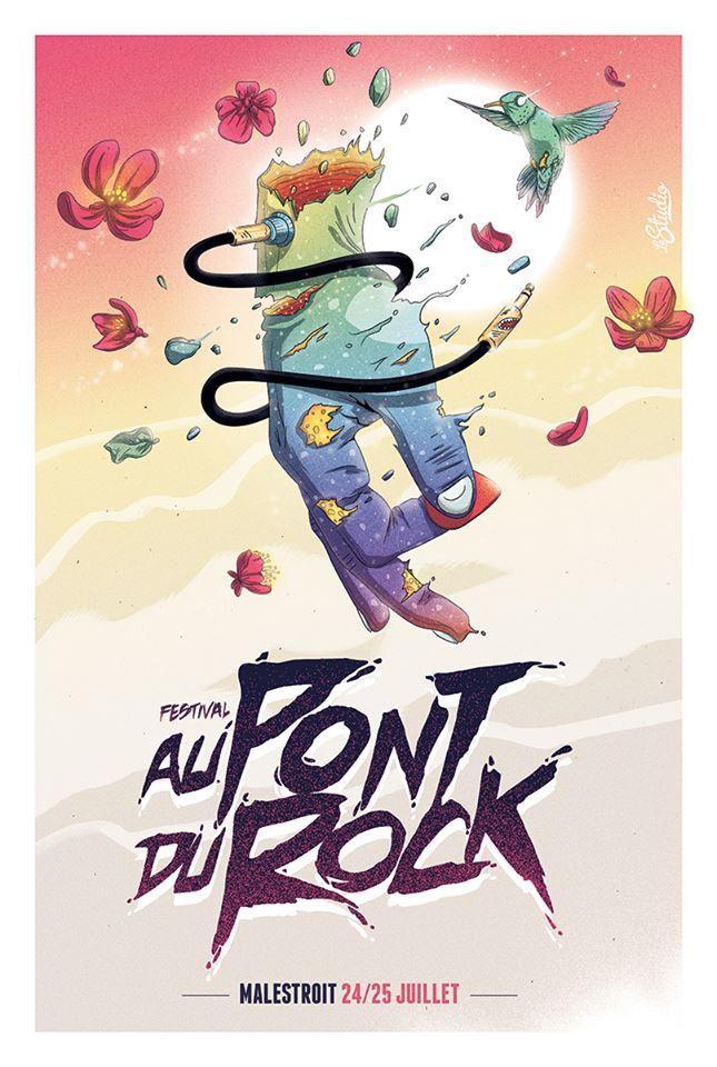 affiche pont du rock 2015