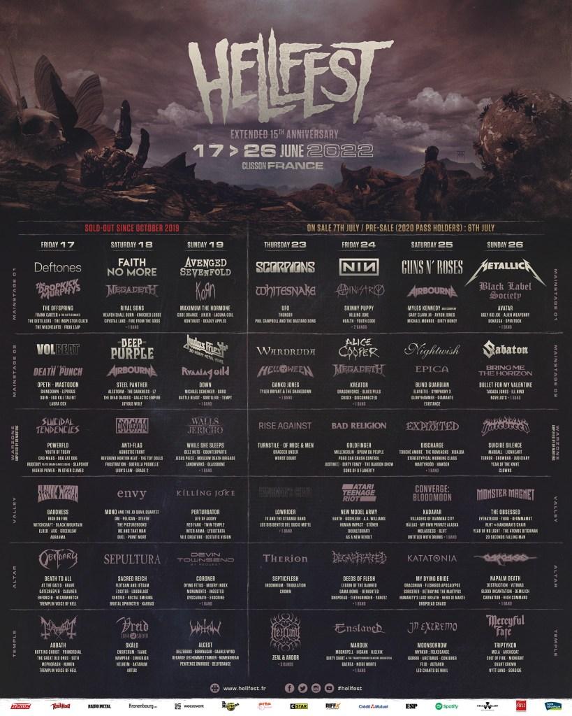 affiche hellfest 2022