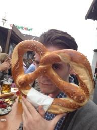 Dramatic pretzel.