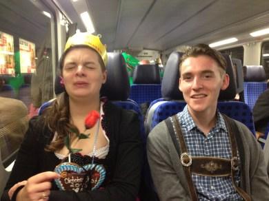 Goofballs on a train.