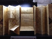 The Marauder's Map. Complete with tiny paper staircases. Eek!