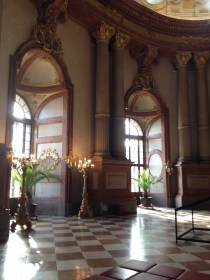 This room was the best. Lots of these gorgeous windows, plus and incredible ceiling.