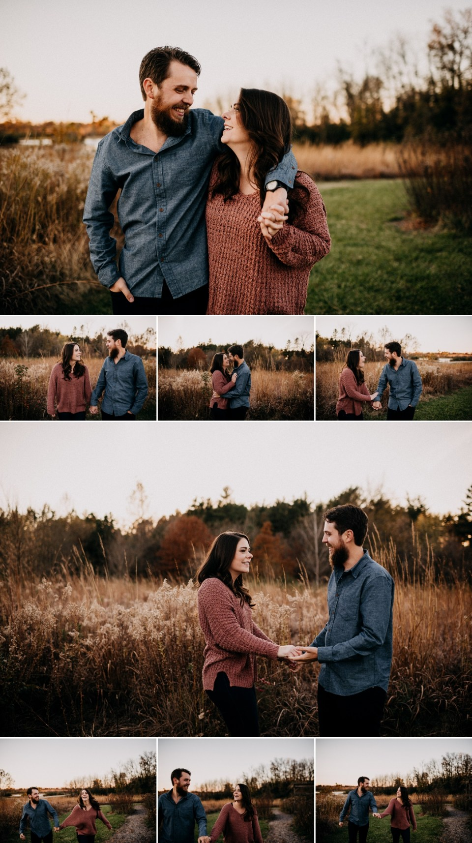 Gorgeous Late Fall Engagement Session at Busch Wildlife Refuge
