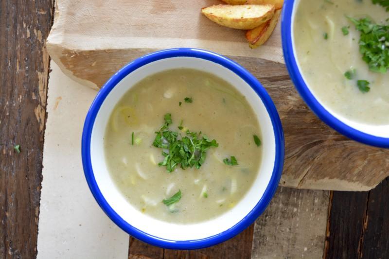 Aardappel soep met prei www.jaimyskitchen.nl