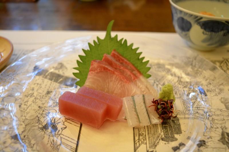 Kaiseki diner Sashimi