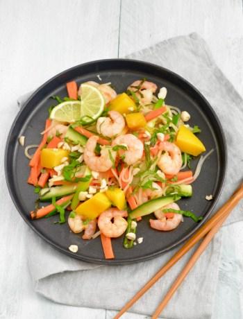 Thaise Garnalen Salade www.jaimyskitchen.nl