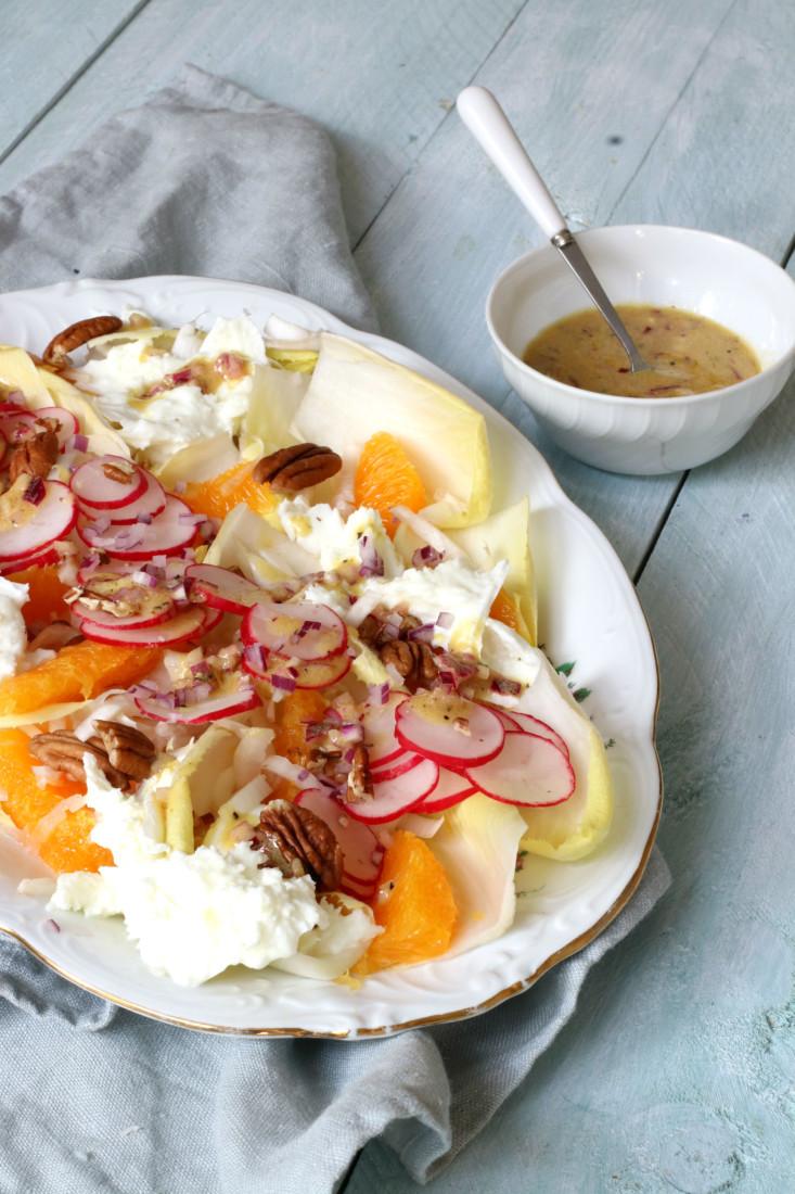 Salade witlof met Sinaasappel www.jaimyskitchen.nl