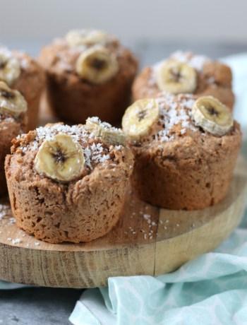 Vegan bananen brood muffins met kokos www.jaimyskitchen.nl