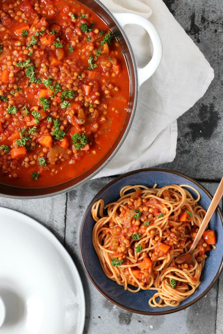 Vegetarische bolognese saus www.jaimyskitchen.nl