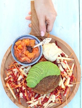 Vegan Linzen burger www.jaimyskitchen.nl
