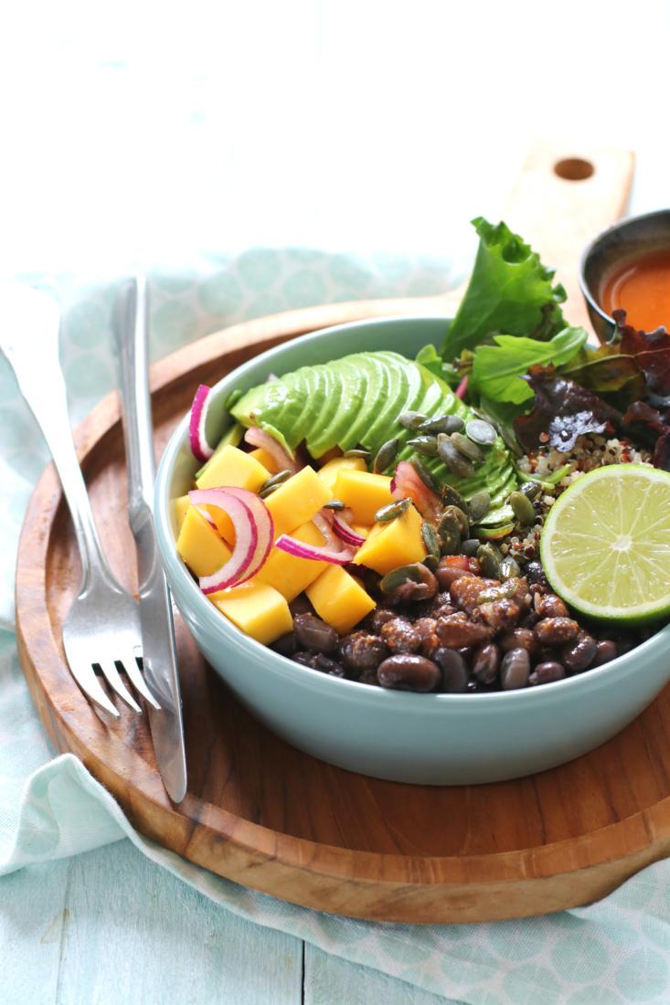 Salade quinoa mango www.jaimyskitchen.nl