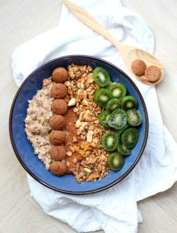 Havermout ontbijt met pepernoten www.jaimyskitchen.nl