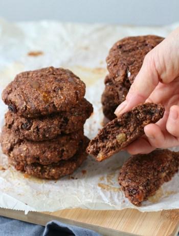 Ontbijt koekjes met chocolade en pindakaas www.jaimyskitchen.nl
