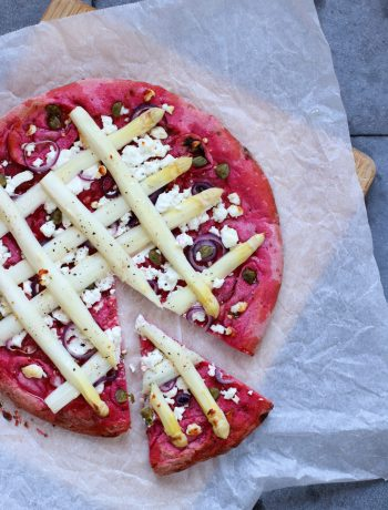 Recept pizza met witte asperge en geitenkaas www.jaimyskitchen.nl