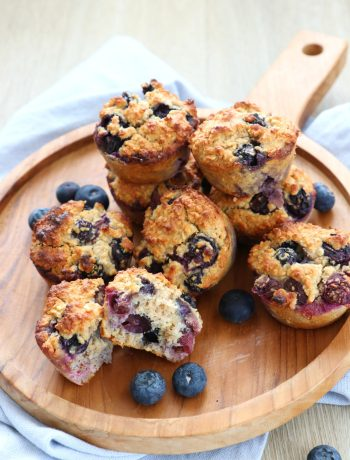 Muffins met blauwe bessen recept www.jaimyskitchen.nl