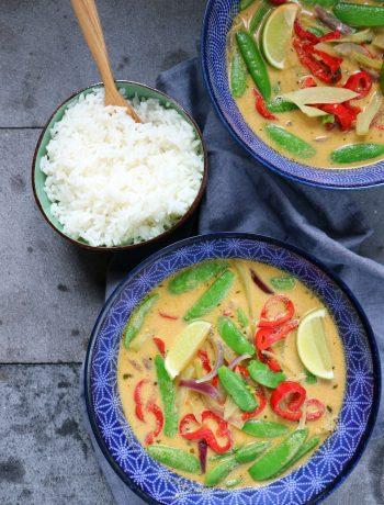 Recept Thaise groene curry vegetarisch www.jaimyskitchen.nl