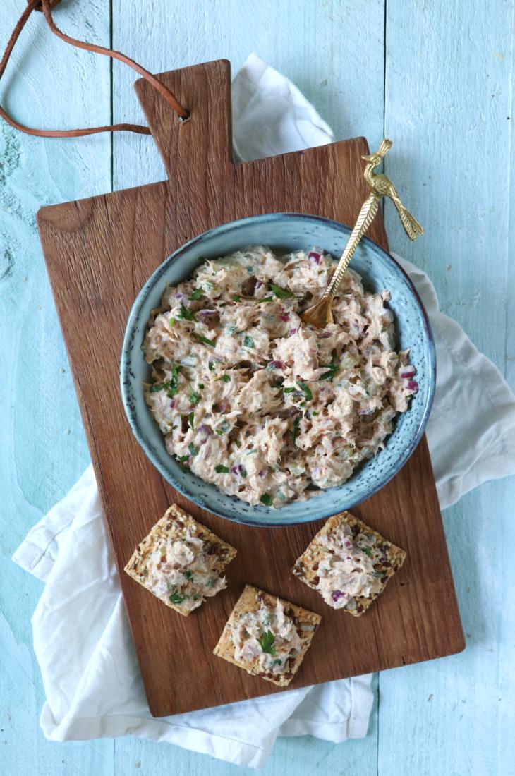 recept zelfgemaakte tonijnsalade www.jaimyskitchen.nl