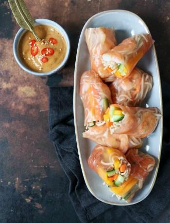 recept summer rolls met garnalen en mango www.jaimyskitchen.nl