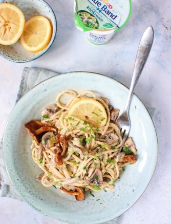 Pasta met champignon roomsaus www.jaimyskitchen.nl