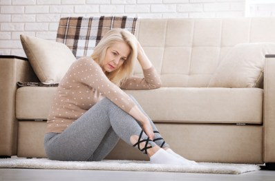 Middle-aged woman worrying about Menopause