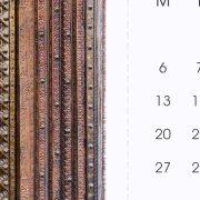 Perforated Line - 2017 Desk Calendar by Jai Pandya