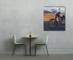 2017 Wall Calendar By Jai Pandya - placed in a room